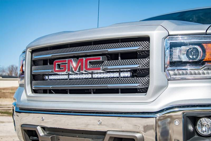 70625 2014 2016 chevrolet silverado 1500 gmc sierra 1500 30 inch curved led grille kit