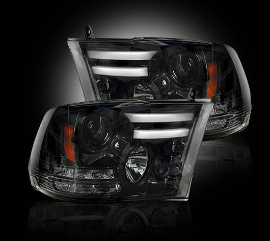 264276BKC | Projector Headlight | Smoked / Black