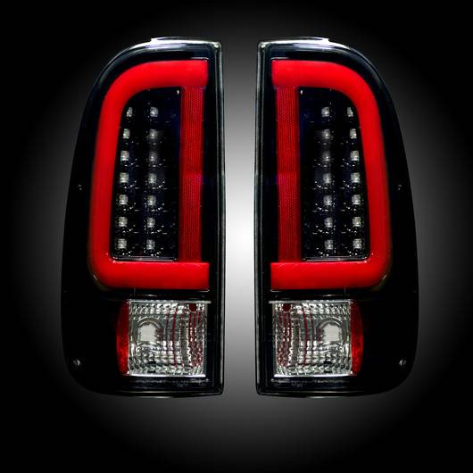 264292bk Style Side Led Tail Lights Smoked