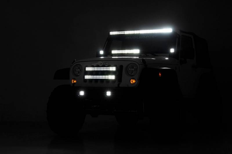 70633 Jeep 20 Inch Led Light Bar Grille Mounts
