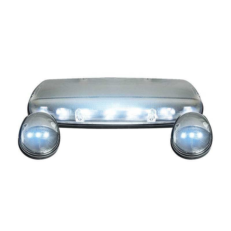 (3-Piece Set) Clear Cab Roof Light Lens With