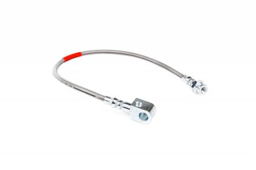 Rough Country Suspension - 89330S | Ford Stock Replacement Rear Stainless Steel Brake Line (80-96 F150/Bronco)