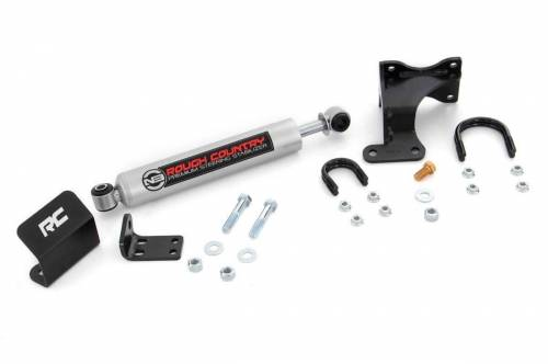 Rough Country Suspension - 8731930 | Jeep N3 Steering Stabilizer (07-18 Wrangler JK)