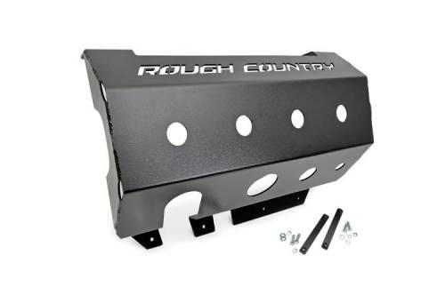 Rough Country Suspension - 779 | Jeep Muffler Skid Plate (07-18 Wrangler JK)