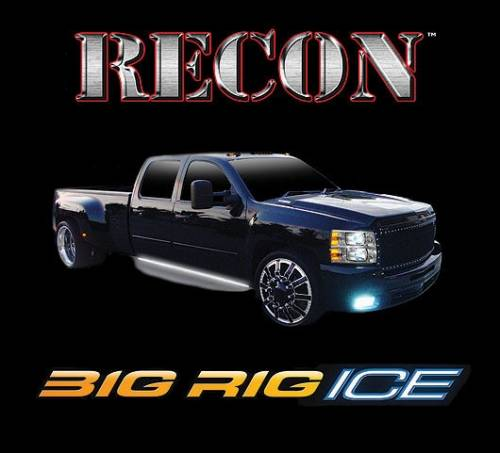 "Recon Truck Accessories - 62"" BIG RIG ""ICE"" AMBER Lights w WHITE Courtesy Lights"