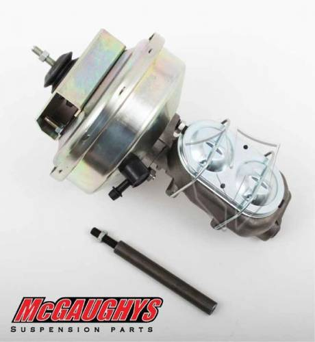 "Mcgaughys Suspension Parts - 63181 | Master Cylinder & 9"" Booster (for Front Disc)"