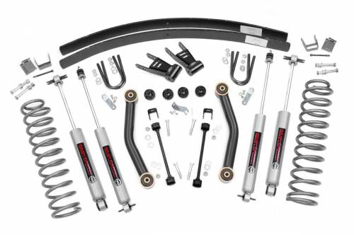 Rough Country Suspension - 623N2 | 4.5 Inch Jeep Suspension Lift Kit w/ Premium N3 Shocks