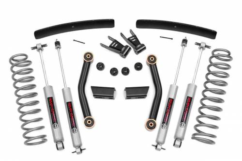 Rough Country Suspension - 62630 | 4.5 Inch Jeep Suspension Lift Kit w/ Premium N3 Shocks