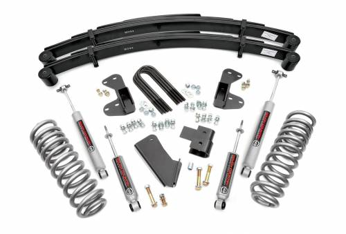 Rough Country Suspension - 51030 | 2.5 Inch Ford Suspension Lift Kit w/ Premium N3 Shocks