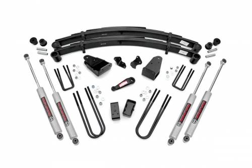 Rough Country Suspension - 490-87UP30 | 4 Inch Ford Suspension Lift Kit w/ Premium N3 Shocks