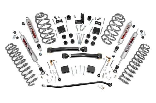 Rough Country Suspension - 639P | 4 Inch Jeep X Series Suspension Lift Kit