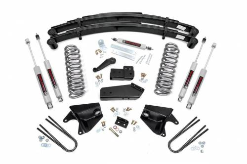 Rough Country Suspension - 520B30 | 4 Inch Ford Suspension Lift Kit w/ Premium N3 Shocks