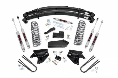 Rough Country Suspension - 52030 | 4 Inch Ford Suspension Lift Kits w/ Premium N3 Shocks