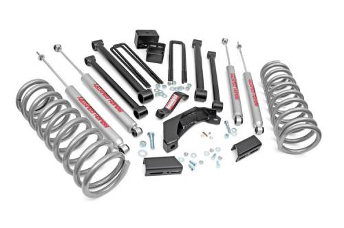 Rough Country Suspension - 371.20 | 5 Inch Dodge Suspension Lift Kit w/ Premium N3 Shocks