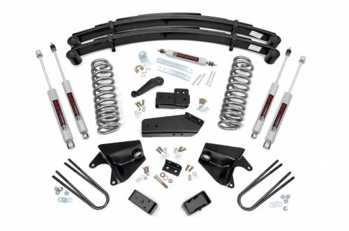 Rough Country Suspension - 525.20 | 6 Inch Ford Suspension Lift Kit  w/ Premium N3 Shocks
