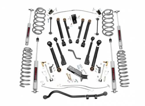 Rough Country Suspension - 66130 | 4 Inch Jeep X Series Suspension Lift Kit w/ Premium N3 Shocks
