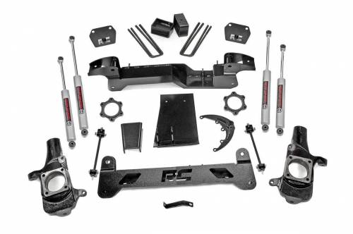 Rough Country Suspension - 25930A | 6 Inch GM Suspension Lift Kit (01-06 1500HD 4WD)