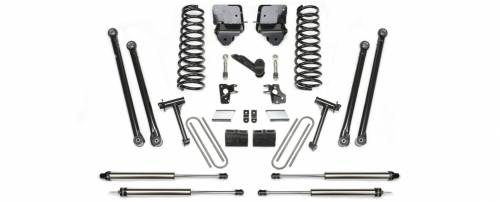 Fabtech Motorsports - 2007-2008 Dodge 2500 4WD with 6.7Diesel & Auto 6 Inch Longarm Kit with Coils & Black Dirt logic Shocks