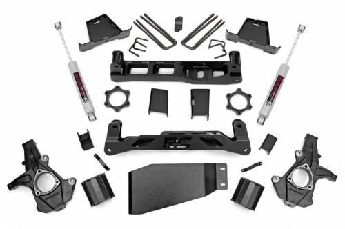 Rough Country Suspension - 23630 | 6 Inch GM Suspension Lift Kit w/ Premium N3 Shocks