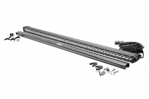 Rough Country Suspension - 70750 | 50-inch Straight Cree LED Light Bar - (Single Row | Chrome Series)