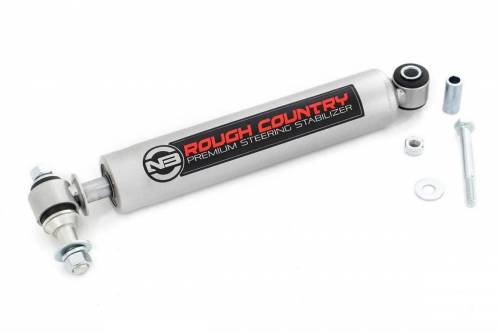 Rough Country Suspension - 8731730 | Jeep/GM Steering Stabilizer