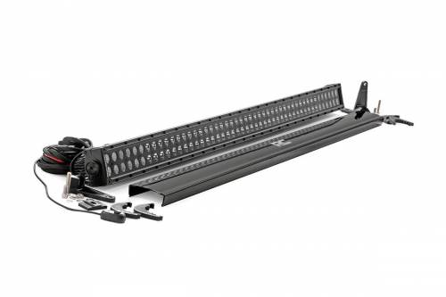 Rough Country Suspension - 70950BL | 50-inch Cree LED Light Bar - (Dual Row | Black Series)