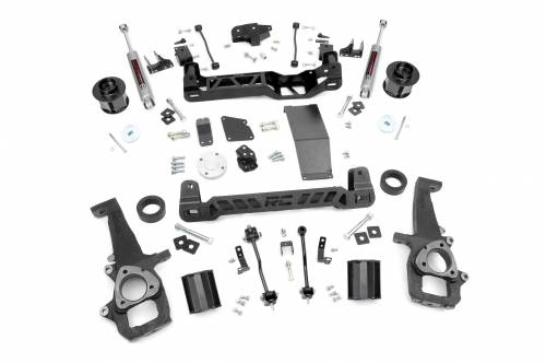 Rough Country Suspension - 33231 | 6in Dodge Suspension Lift Kit (12-18 Ram 1500 4WD)