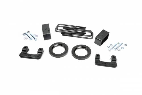 Rough Country Suspension - 1312 | 2.5in GM Leveling Lift Kit (16-18 1500 PU | Stamped Steel)