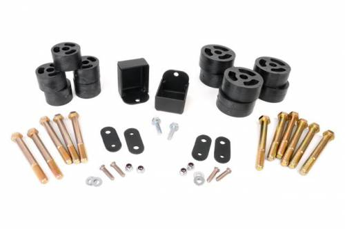 Rough Country Suspension - RC608 | 1.25in Jeep Body Lift Kit (Man Trans)