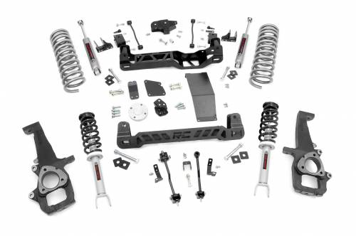 Rough Country Suspension - 33232 | 6in Dodge Suspension Lift Kit | N3 Struts and N3 Shocks (12-18 Ram 1500 4WD)