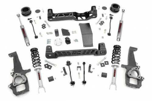 Rough Country Suspension - 33332 | 4 Inch Dodge Suspension Lift Kit w/ Lifted Struts, Premium N3 Shocks