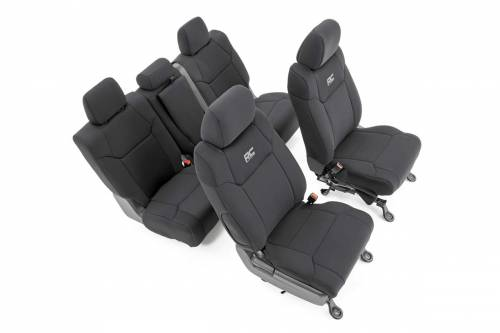 Rough Country 91026 Neoprene Seat Covers Black 1st Row 2014-2020 Tundra Exact Fit