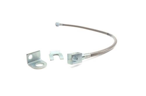 Rough Country Suspension - 89703 | Jeep Rear Stainless Steel Brake Line | 4-6in (TJ/YJ/XJ)