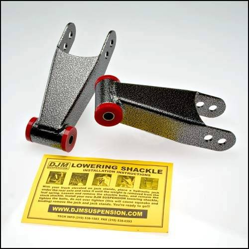 DJM Suspension - SH3097-2 | 2 Inch Rear Lowering Leaf Spring Shackle Kit