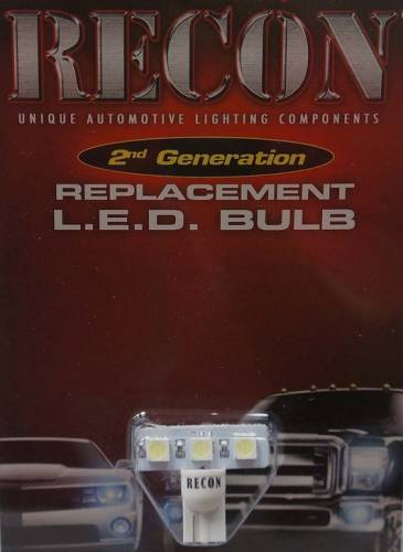 Recon Truck Accessories - 264280AM | 194 Type 3-Watt High Port LED Bulb | Amber