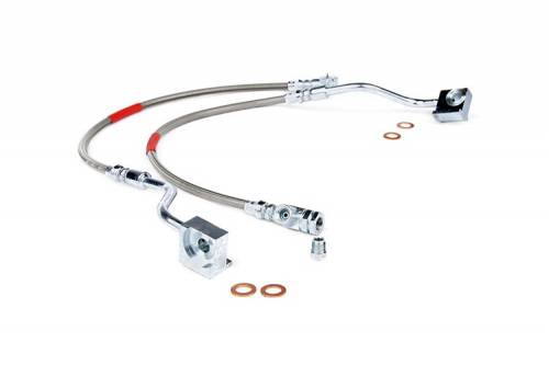 Rough Country Suspension - 89310S | Ford Extended Front Stainless Steel Brake Lines (80-96 F150/Bronco)