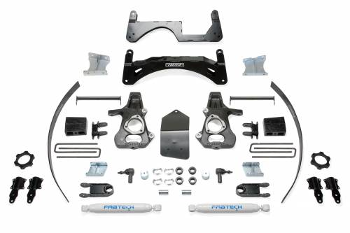 Fabtech Suspension - K1068 | GM 6 Inch Suspension Lift Kit with Performance Shocks