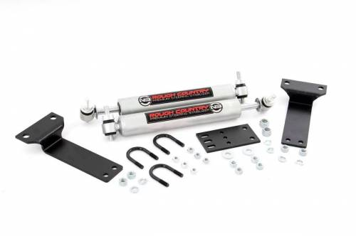 Rough Country Suspension - 8749030 | Ford Dual Steering Stabilizer