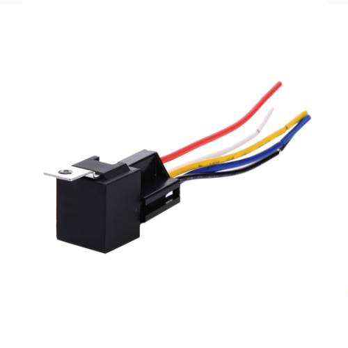 Recon Truck Accessories - 264RELAY5   5 Pin 12 Volt 30/40A w/ Pin Interlock Wire Connector