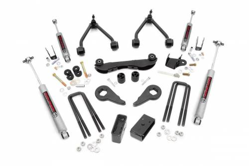 Rough Country Suspension - 16530 | 2-3 Inch GM Suspension Lift Kit (Rear Blocks)