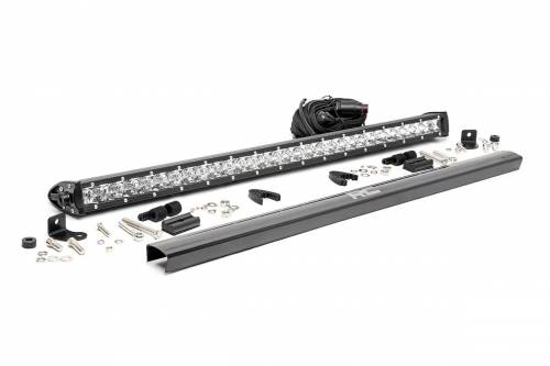 Rough Country Suspension - 70730 |  30 Inch CREE LED Light Bar | Single Row, Chrome Series