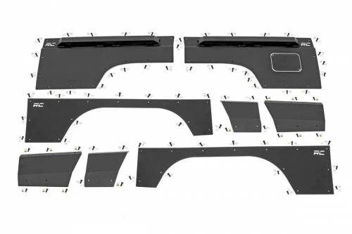 Rough Country Suspension - 10581 | Jeep Front & Rear Upper & Lower Quarter Panel Armor