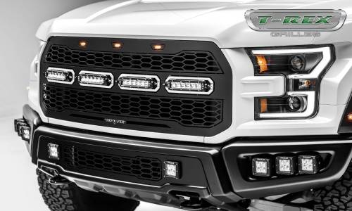 "T-Rex Billet - 6515661 | Revolver Series Main Grille Replacement, Aluminum Accent Trim, (4) 6"" LED Bars"