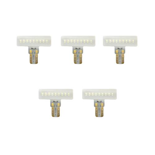 Recon Truck Accessories - 264280AMX |194 Type 3-Watt High Port LED Bulbs | Amber 5 Pack