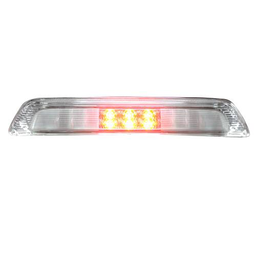 Recon Truck Accessories - 264113CL | Red LED 3rd Brake Light Kit w/ White LED Cargo Lights – Clear Lens