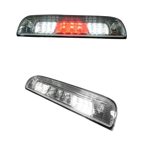 Recon Truck Accessories - 264115CL | Red LED 3rd Brake Light Kit w/ White LED Cargo Lights – Clear Lens