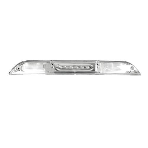 Recon Truck Accessories - 264129CL | ULTRA HIGH POWER Red LED 3rd Brake Light Kit w/ White LED Cargo Lights - Clear Lens