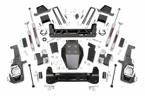Rough Country Suspension - 10130A  7in GM NTD Suspension Lift Kit (2020 2500HD)