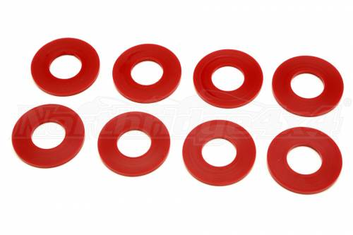 Daystar Suspension - KU71074RE | D-Ring / Shackle Washers Set Of 8 Red