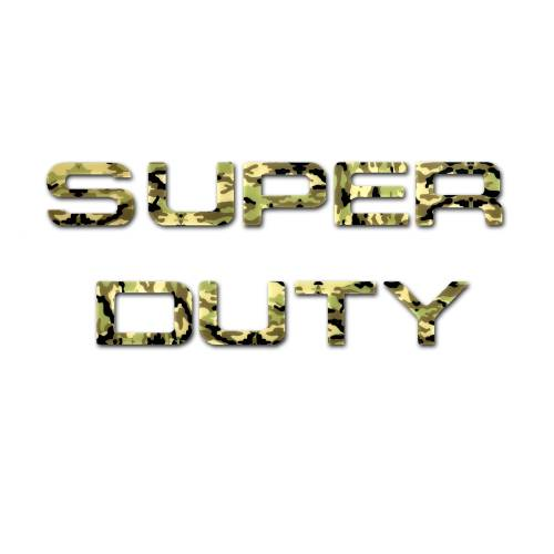 Recon Truck Accessories - 264181DC | Super Duty Raised Letter Inserts - Desert Camo
